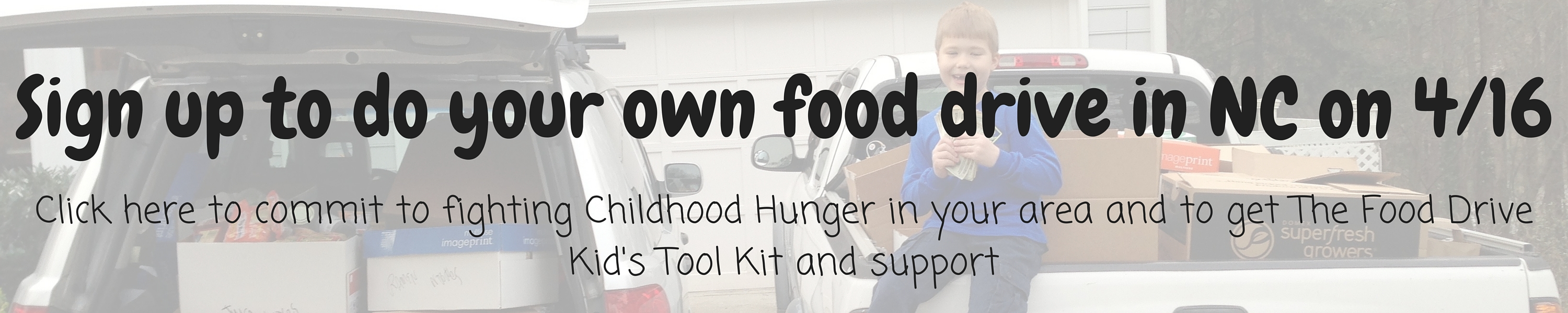 Sign up to do your own food drive in NC on 4-16
